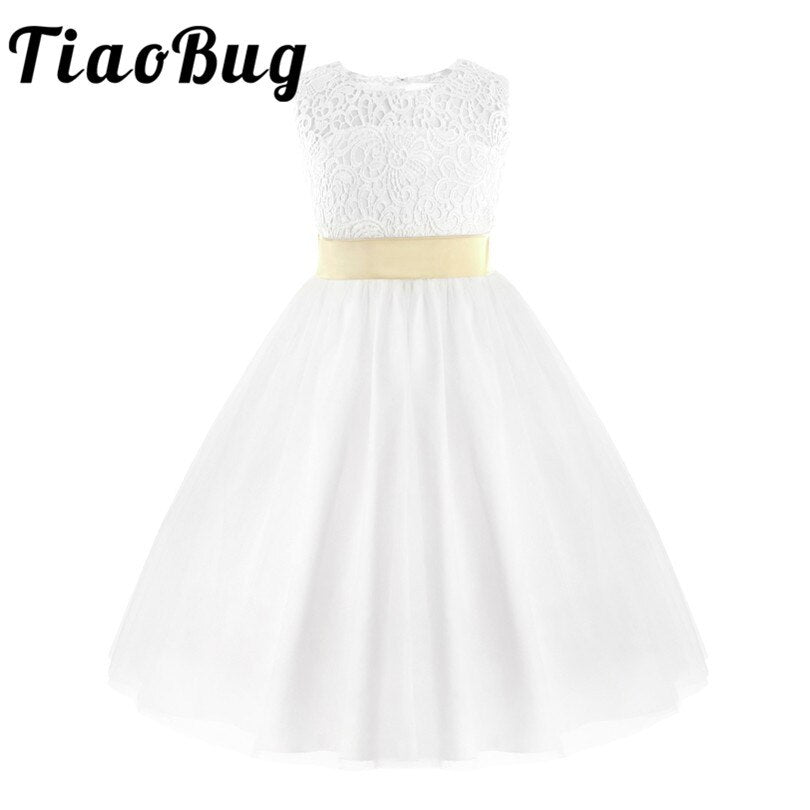 TiaoBug Flower Girls Dress