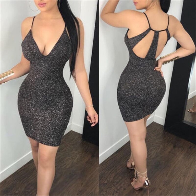 Bodycon Slim Short Mini Dress