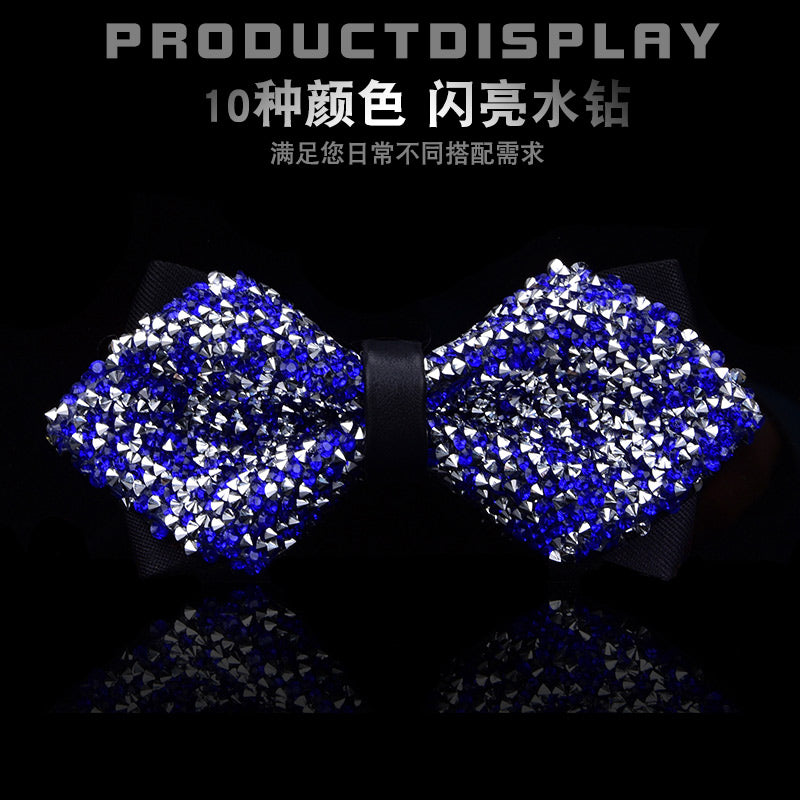 Bow Tie Crystal Bling Butterfly Knot  for Men