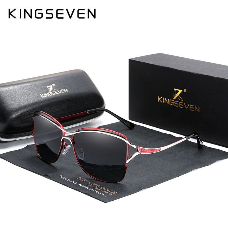 Square Rimless Elegant Brand Designer Fashion Shades Sunglasses With Box