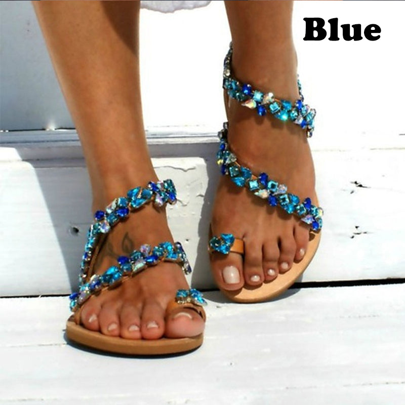 Women Sandals Bling Crystal Summer Shoes