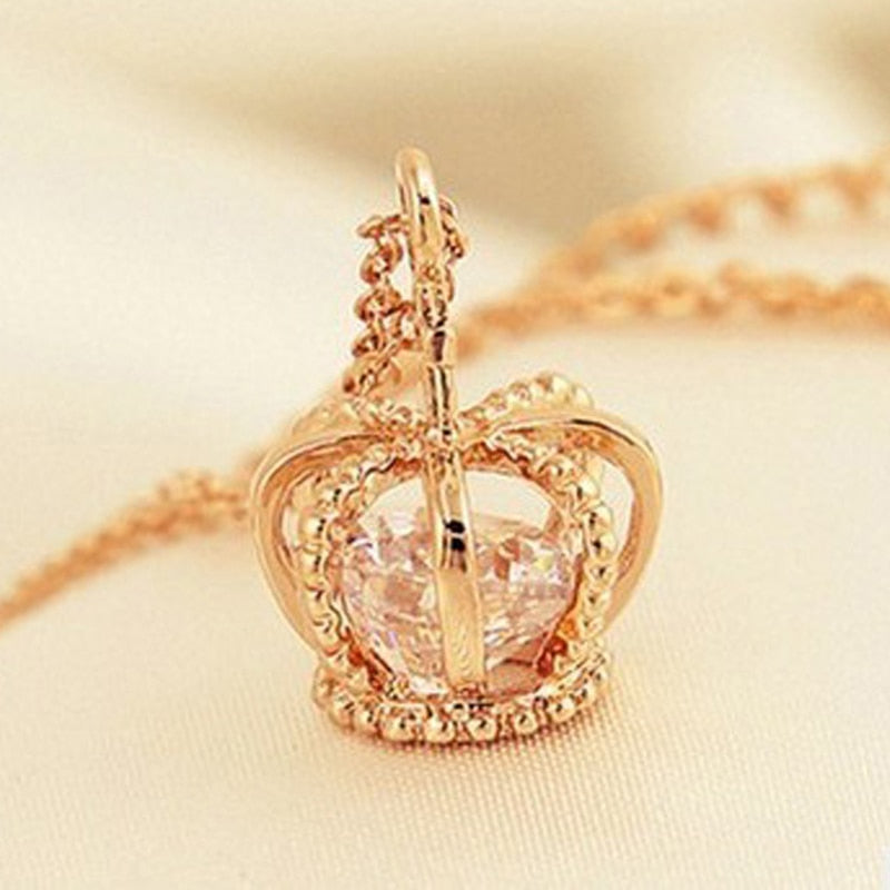 Crown Pendant Necklace