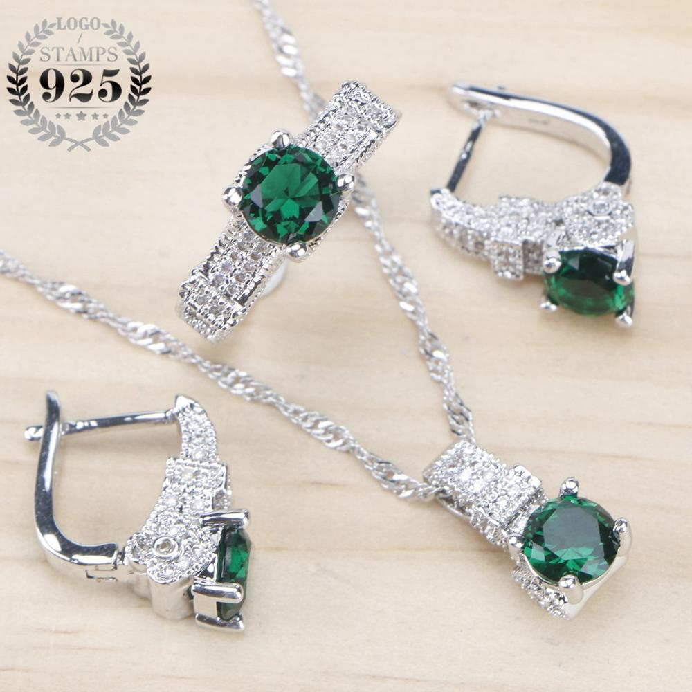 Bridal Jewelry Sets Zirconia Stone w/Sterling Silver