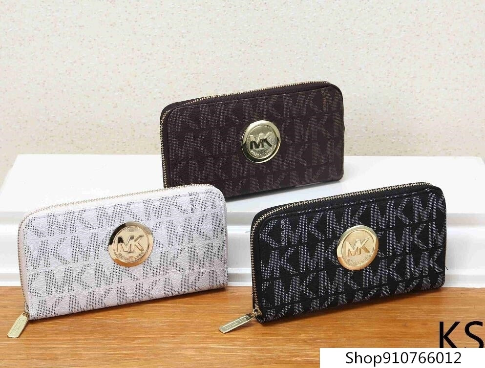 Michael Kors MK-Bifold Wallet Zipper Coin Purse M210