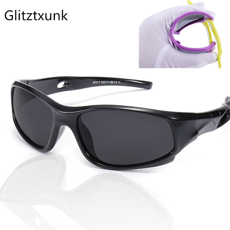 Glitztxunk Children Sunglasses Polarized Kids Sports Sunglasses Safety Coating