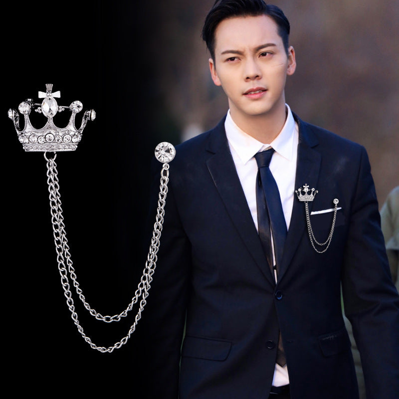 Chain Lapel Pin Men Accessories