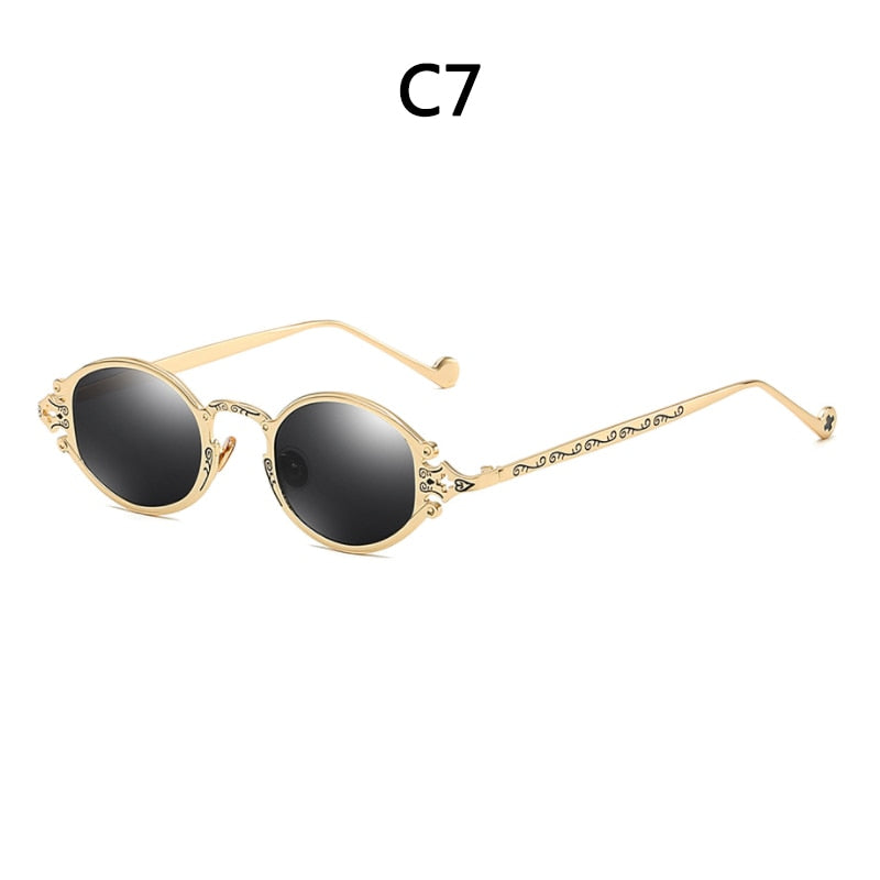 Round Circle Steampunk Sunglasses