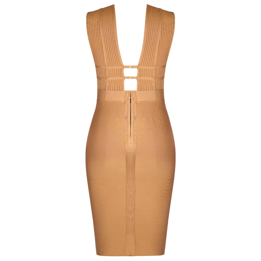 Maketina Plus Size Bandage Dress