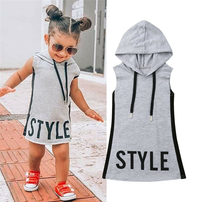 Baby Girl Pudcoco Clothes Hooded Dress