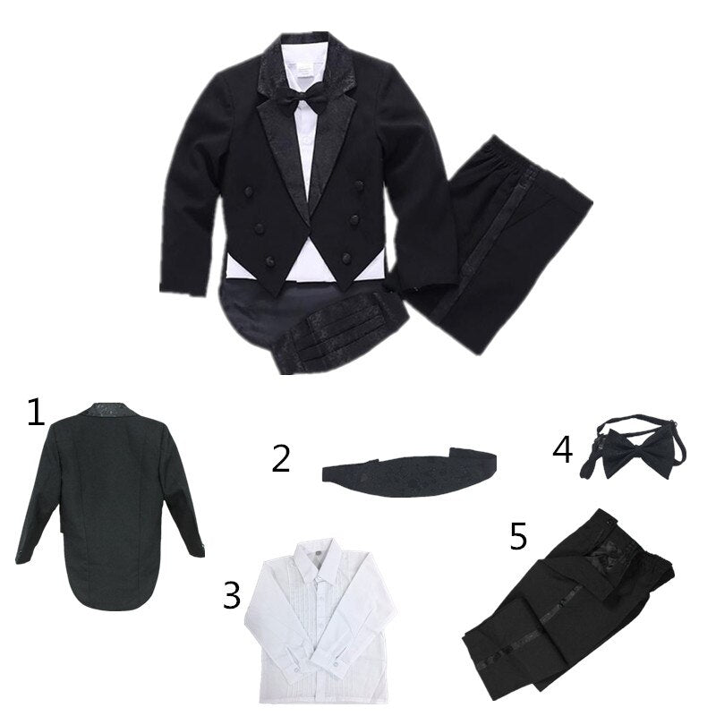 Children Formal Boys Wedding/Tuxedo Suits 5pcs