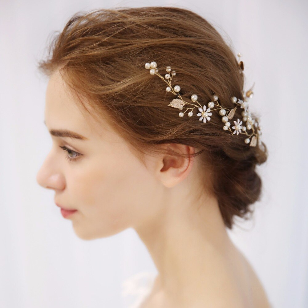 Pearl Rhinestone Flower Bride Headband