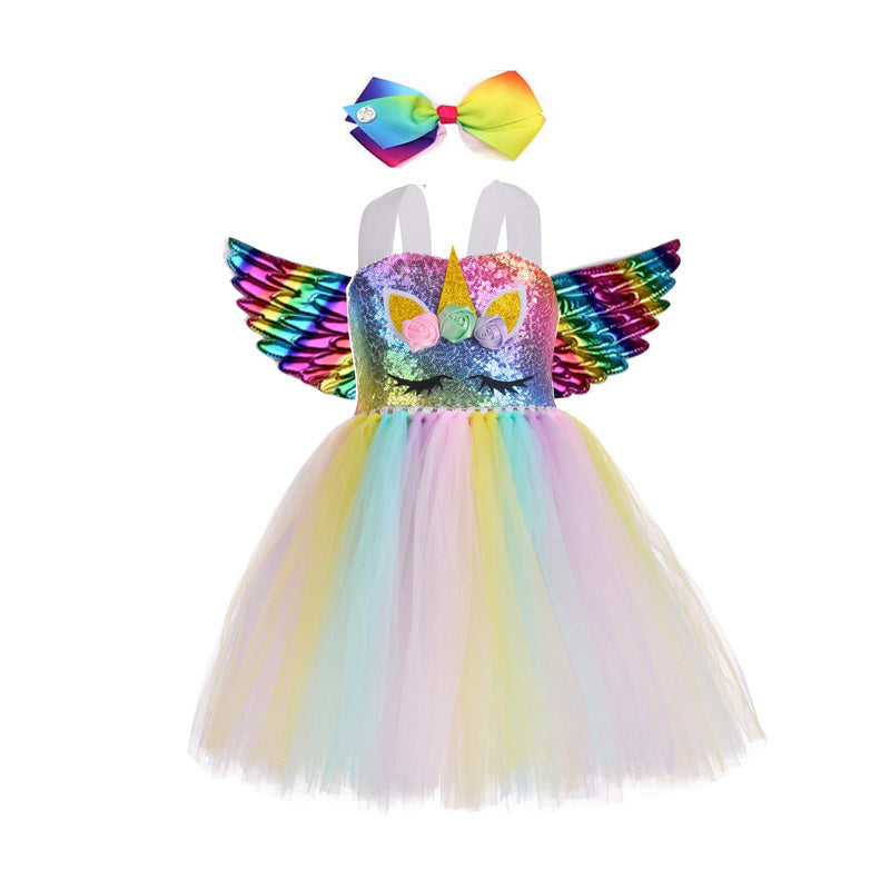 Children Kids Halloween Unicorn Costume