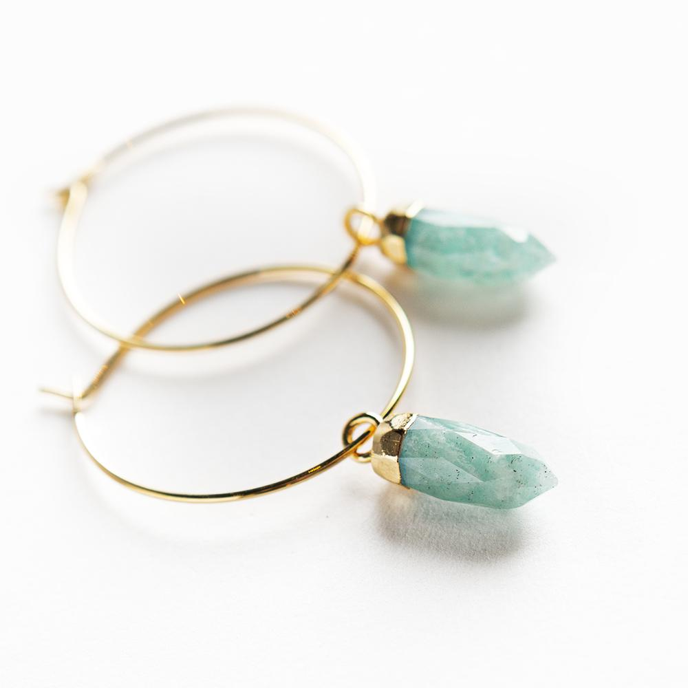 Berklee Earrings-Amazonite