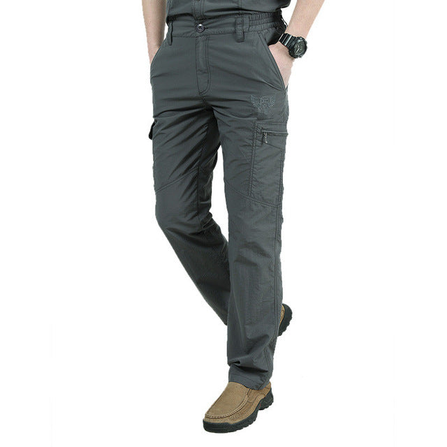 Military Style Cargo Pants Men Summer Waterproof Breathable