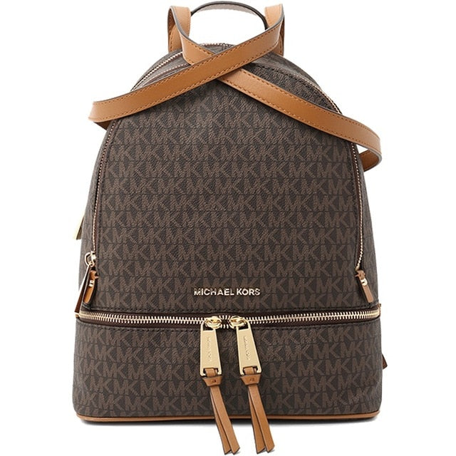 Authentic Original & Brand new Michael Kors MK Rhea Zip MD Backpack