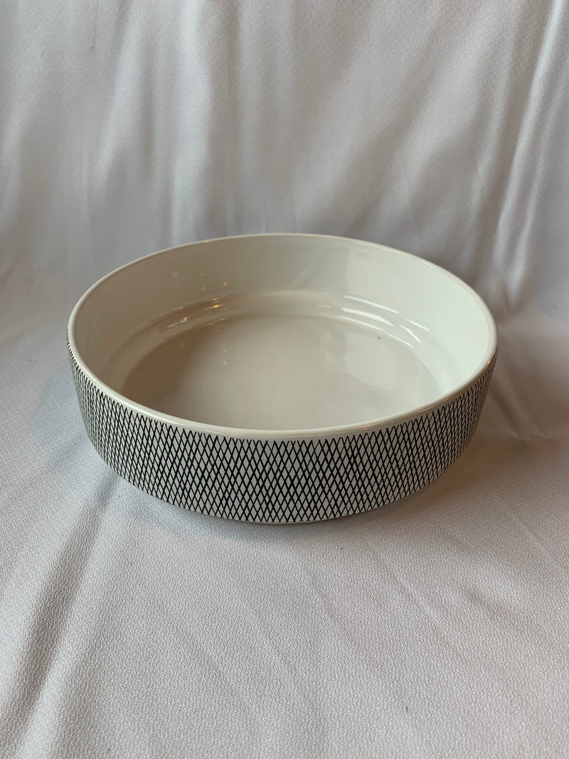 Weave White Ceramic Bowl