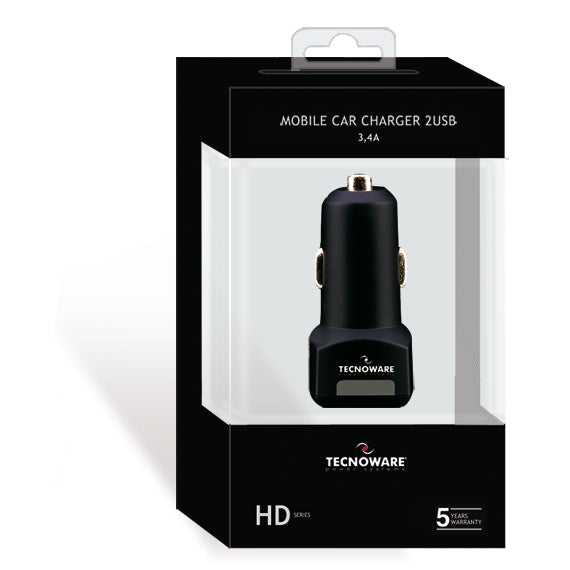 Tecnoware Mobile Car Charger 3.4A 2USB