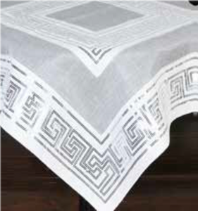 greek key tablecloth