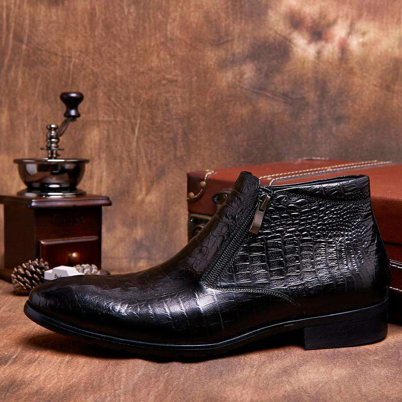 bottine imitation croco