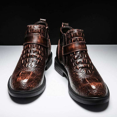 bottines homme croco modele