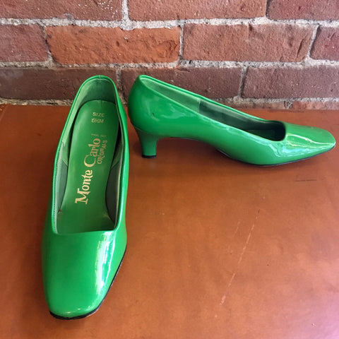 1960s Apple Green Heels