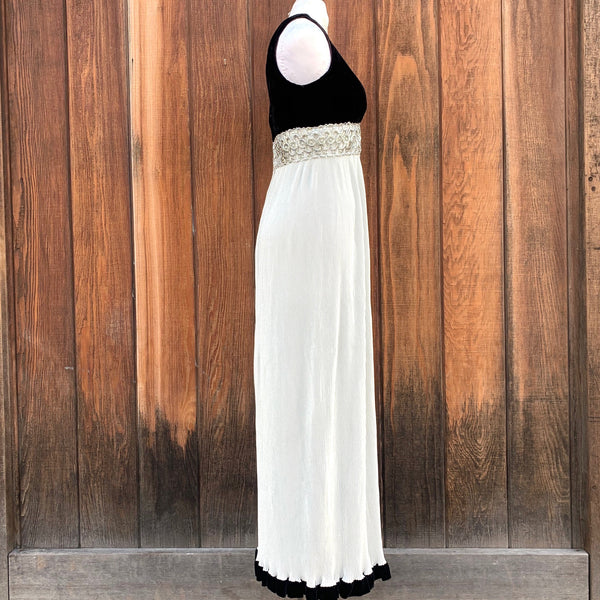 1960s Velvet and Lurex Gown