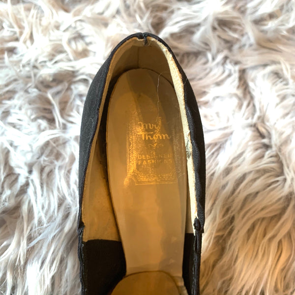 Vintage Mr. Thom Designer Fashion Black Stilettos