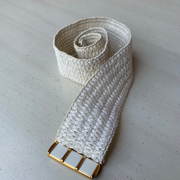 Raffia Stretch Belt