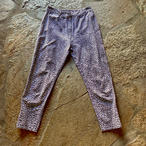 1980's Leopard Ankle Zipper Pants