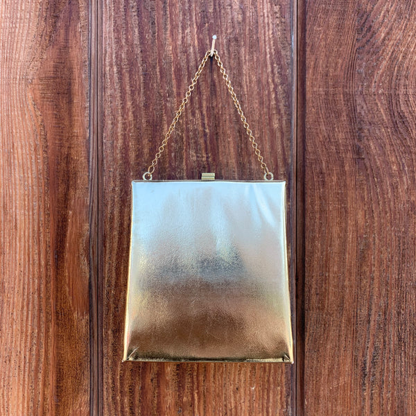 1950s Gold Square Clutch