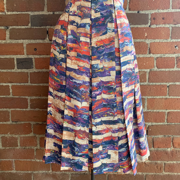 "1960s Abstract Print ""Paint"" Dress"
