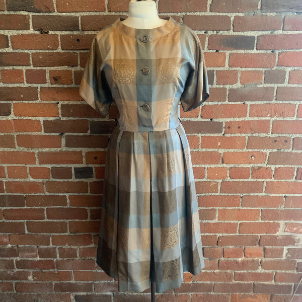 1960s Royal Lynne Silk Dress