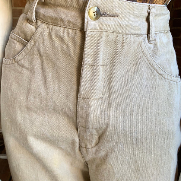 1980s Judys Kahki Buckle Back Pants