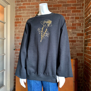 1980s Art Deco Lady Sweatshirt