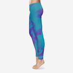 Turq and Purp King B. Women's Temp Control Cotton Leggings