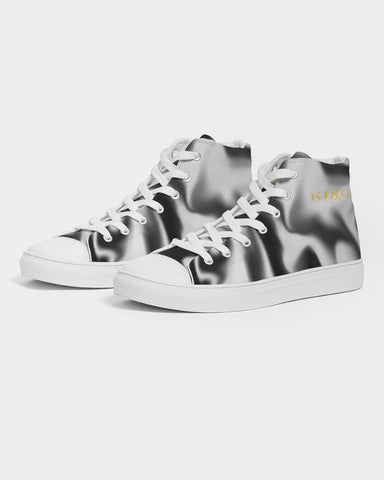 Graphic Streetwear Shoes -The Indy City- King B. Men's Hightop Canvas Shoe