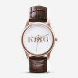 King B. Fashion Unisex Print Black Quartz Watch
