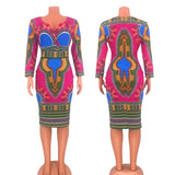 V-neck Ladies Dress