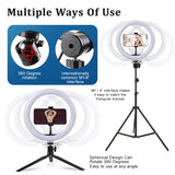 Camera Photo 26cm/10in Circle Light Ring Dimmable LED Selfie USB Studio Light With Tripod Stand