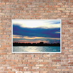 Horizon Water and Sky Art Framed poster -The Indy City- King B.