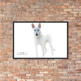 Dog Lovers Favorite Doggie Framed poster - The Indy City- King B.