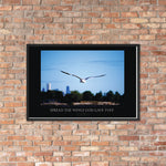 Inspirational Wings Framed poster -The Indy City- King B.