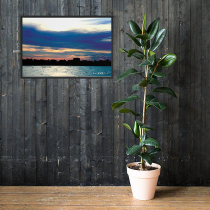 Horizon wall art framed