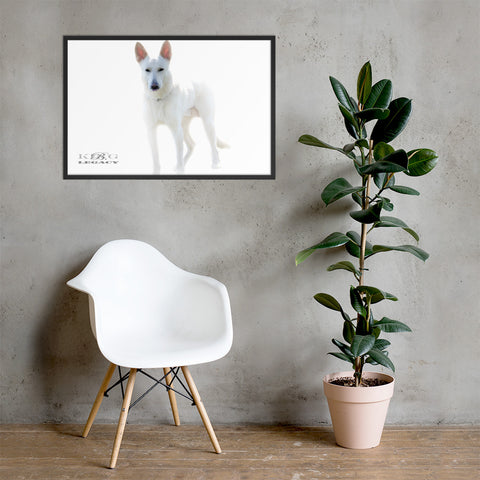 Living room dog poster