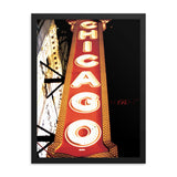 Chicago Sign Downtown Framed poster -The Indy City- King B.