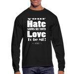 Unique Graphic Long sleeve t-shirt - Hate...Love - King B. - black