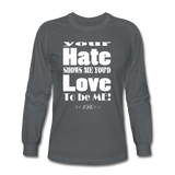 Unique Graphic Long sleeve t-shirt - Hate...Love - King B. - charcoal