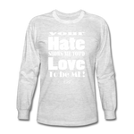 Unique Graphic Long sleeve t-shirt - Hate...Love - King B. - light heather gray