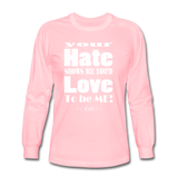 Unique Graphic Long sleeve t-shirt - Hate...Love - King B. - pink