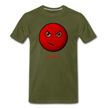 Cool, Streetwear Mad Emoji Short-Sleeve Unisex T-Shirt - The Indy City - King B. - olive green